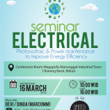 "SEMINAR ELECTRICAL: ""Photovoltaic & Power Maintenance to Improve Energy Efficiency"""